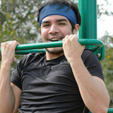 Working out and looking great in Royal Blue Qwickband
