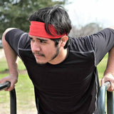 Working out in Ruby Red Qwickband