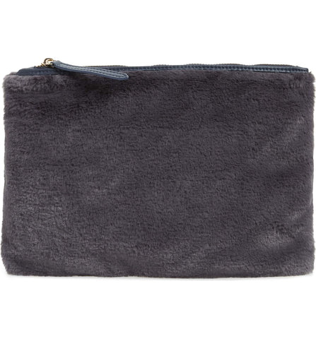 Jen Fur Pouch - Plum - Jules Kae Handbags and Accessories
