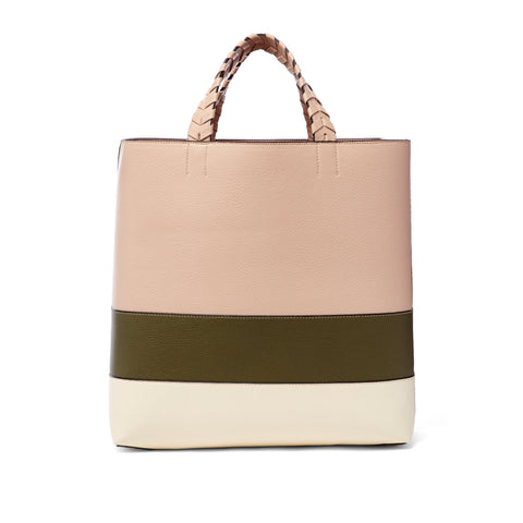 Charlotte Tote Blush Olive Bone Olive Blush - Jules Kae Handbags and Accessories
