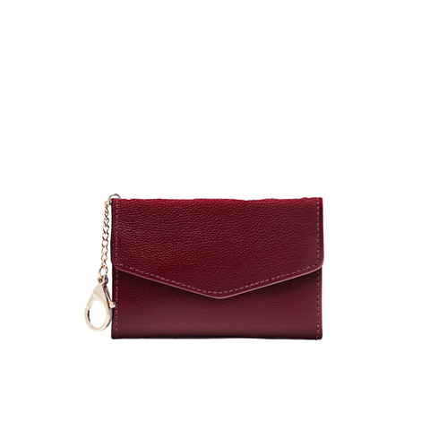 Meg Card Holder - Oxblood - Jules Kae Handbags and Accessories