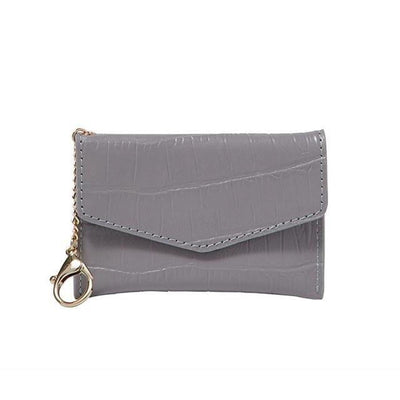 Meg Card Holder - Grey Crocodile - Jules Kae Handbags and Accessories