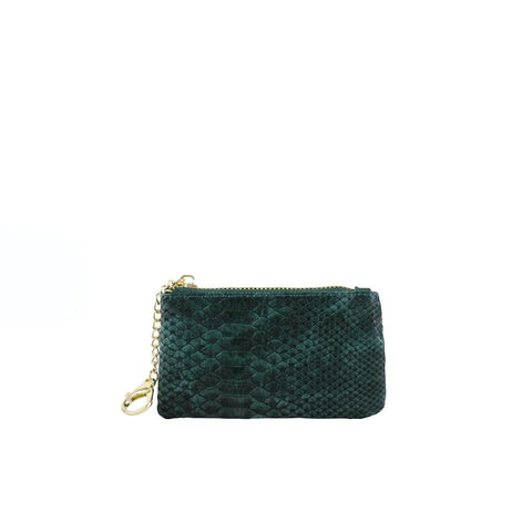 Kari Card Holder - Emerald - Jules Kae Handbags and Accessories