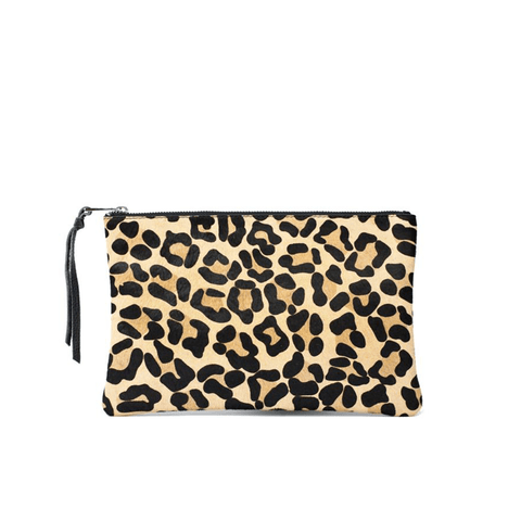 Jen Pouch Leopard Genuine Leather - Jules Kae Handbags and Accessories