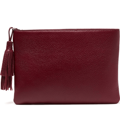 Jen Pouch - Oxblood - Jules Kae Handbags and Accessories