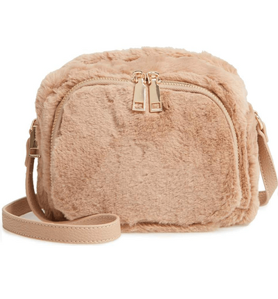 Cameron Faux Fur Crossbody Bag - Rusty Leaf - Jules Kae Handbags and Accessories