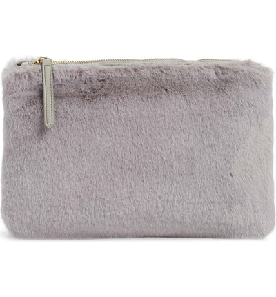 Jen Fur Pouch - Mink - Jules Kae Handbags and Accessories