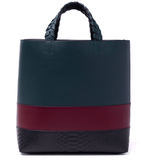 Charlotte Tote - Deep Marine/Oxblood/Black Snake - Jules Kae Handbags and Accessories