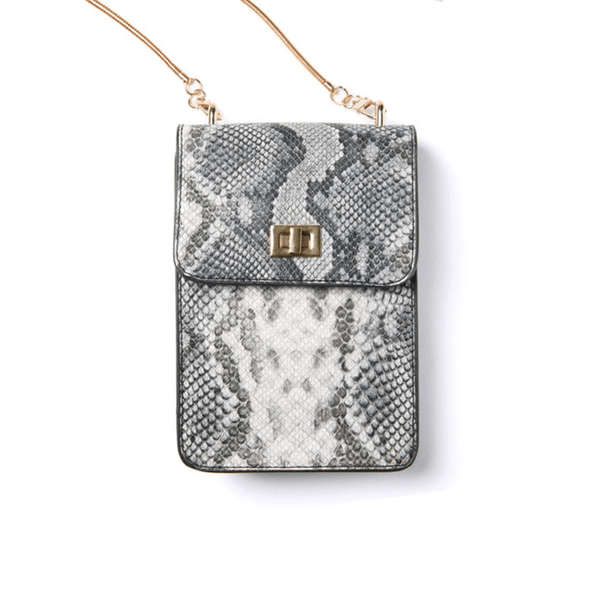Ceci Cellphone Bag - Snakeskin - Jules Kae Handbags and Accessories