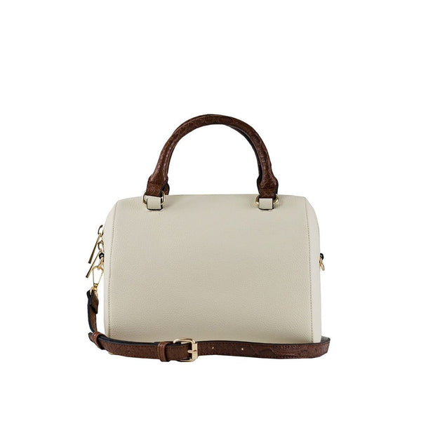 Juliette Small Duffle Bag - Cream/Brown Snake - Jules Kae Handbags and Accessories