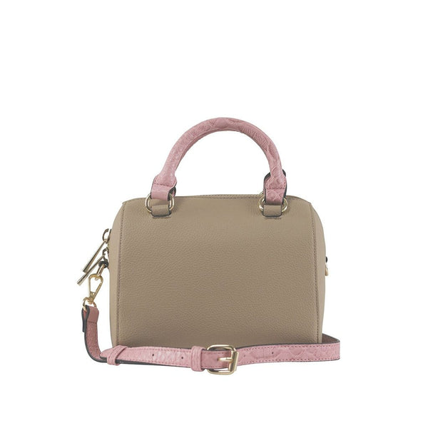 Juliette Small Duffle Bag - Latte/Flamingo Snake - Jules Kae Handbags and Accessories