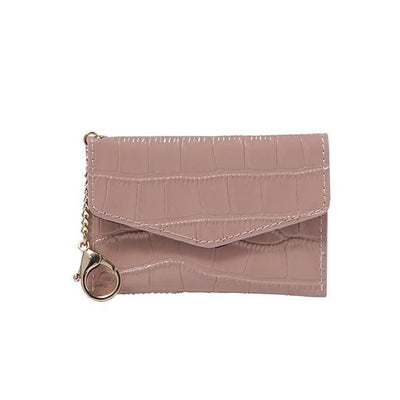 Meg Card Holder - Mauve Crocodile - Jules Kae Handbags and Accessories