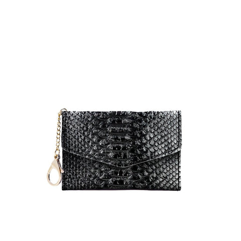 Meg Card Holder - Black - Jules Kae Handbags and Accessories