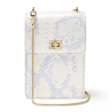 Ceci Cellphone Bag Silver Multi Snake - Jules Kae Handbags and Accessories