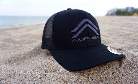 Classic Double A Snapback (Black/Black/Charcoal)