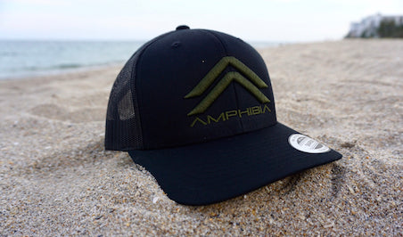 Classic Double A Snapback (Black/Black/OD Green)