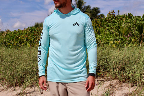 Frigate Performance Hoodie in TURQUOISE