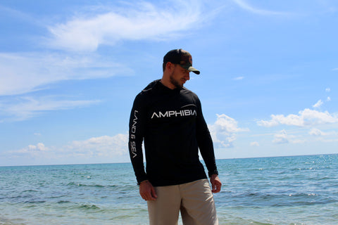 Land & Sea Performance Hoodie in BLACK