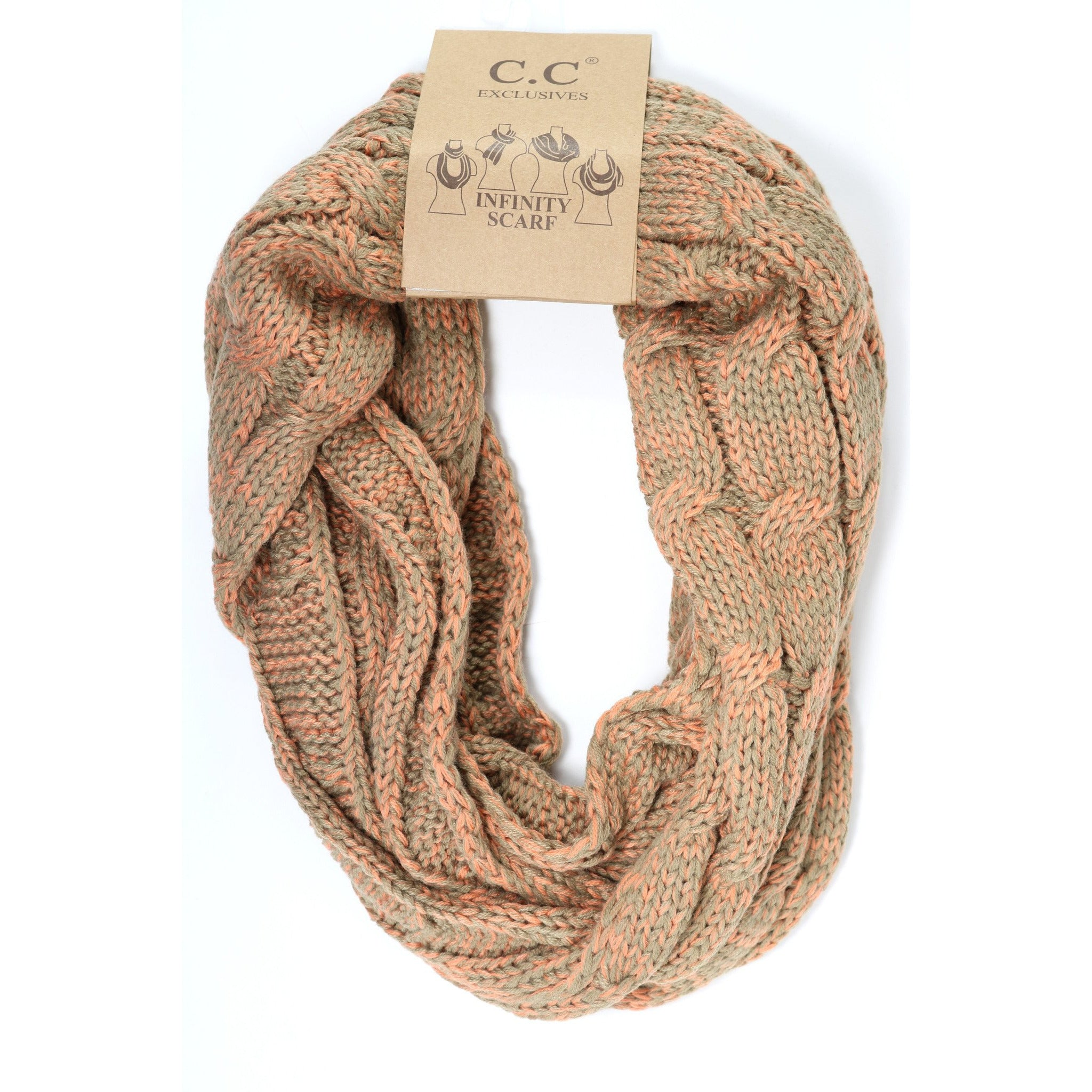 melon infinity speckled your products scarf love khaki
