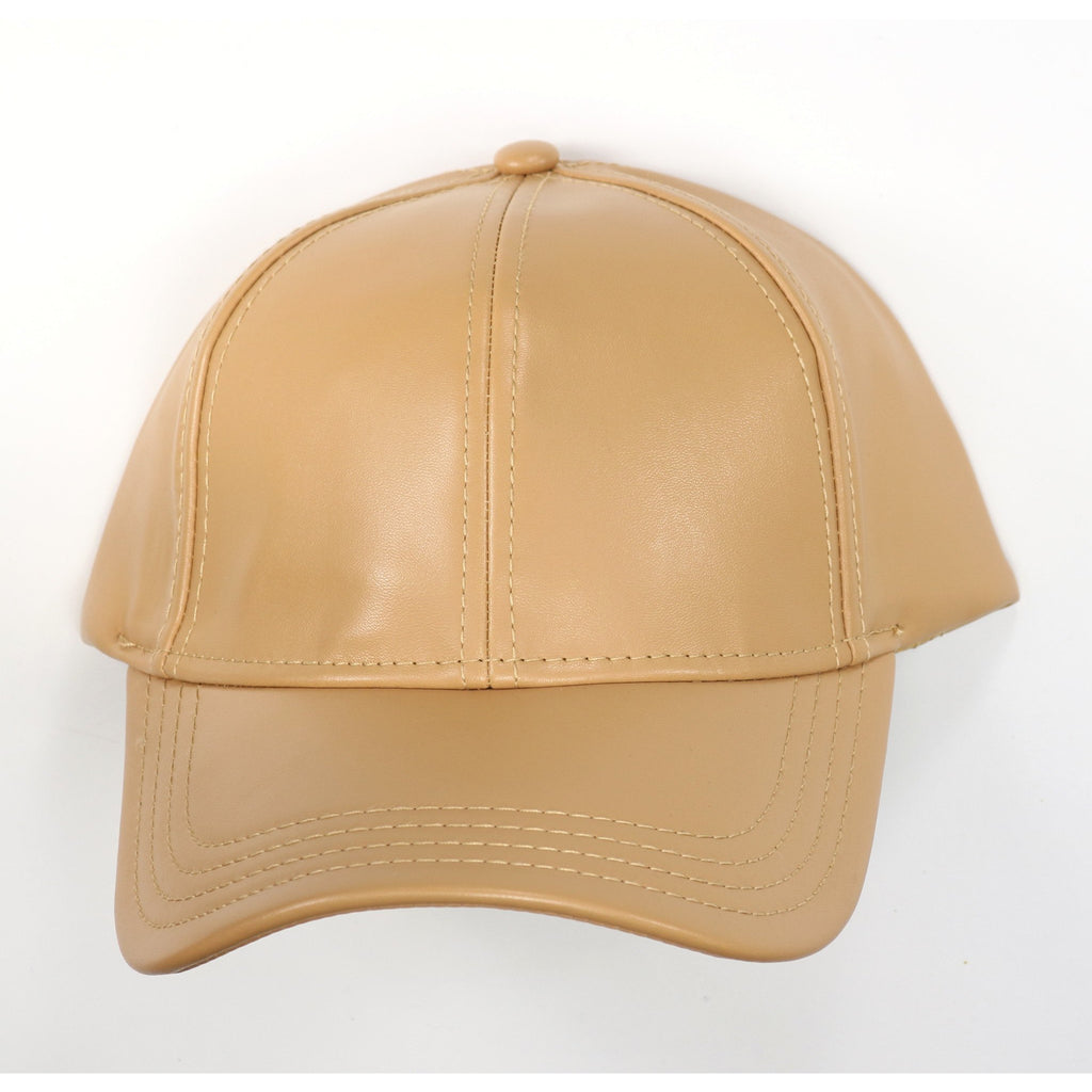 Faux Leather CC Ball Cap