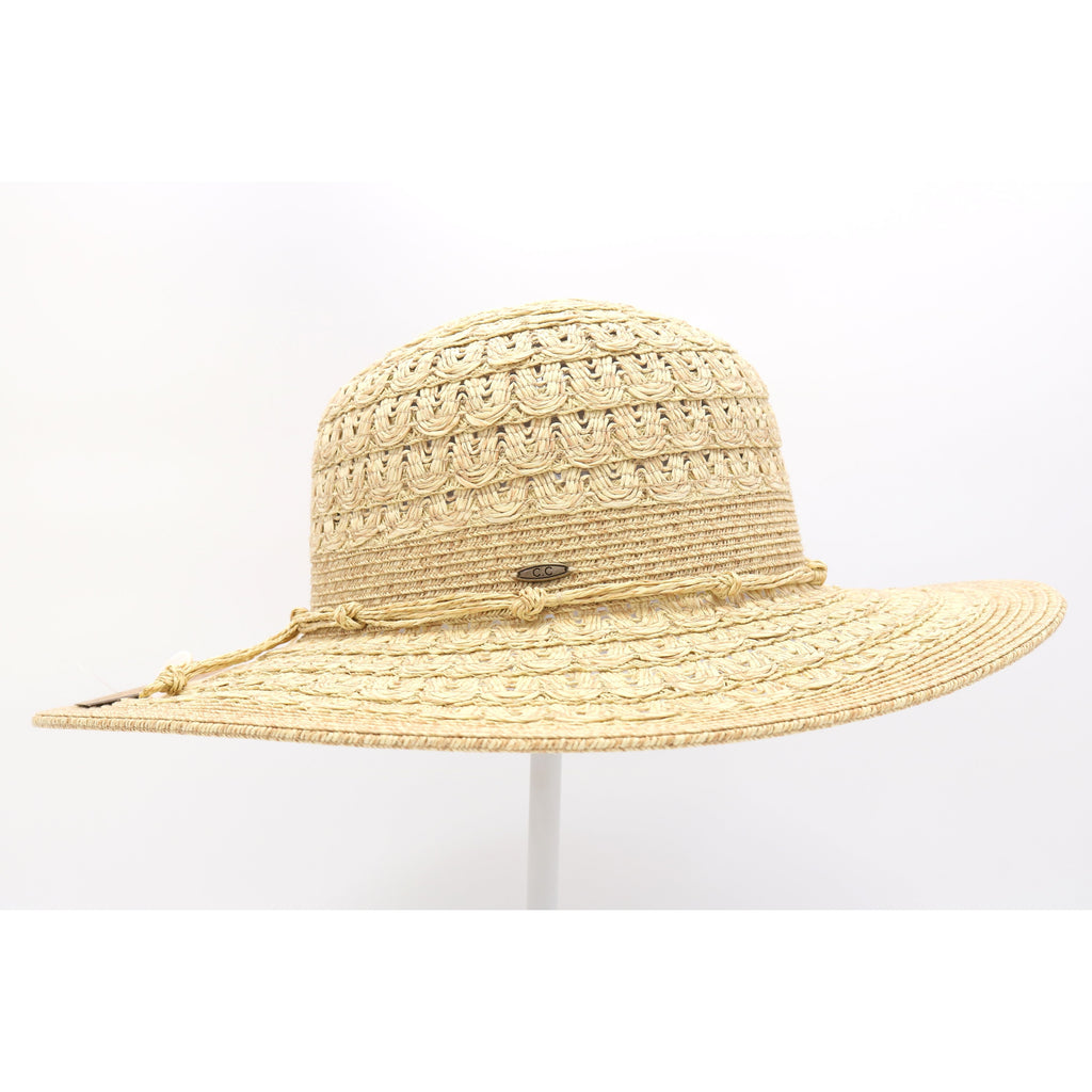Paper Straw Woven Patterned Sun Hat ST805