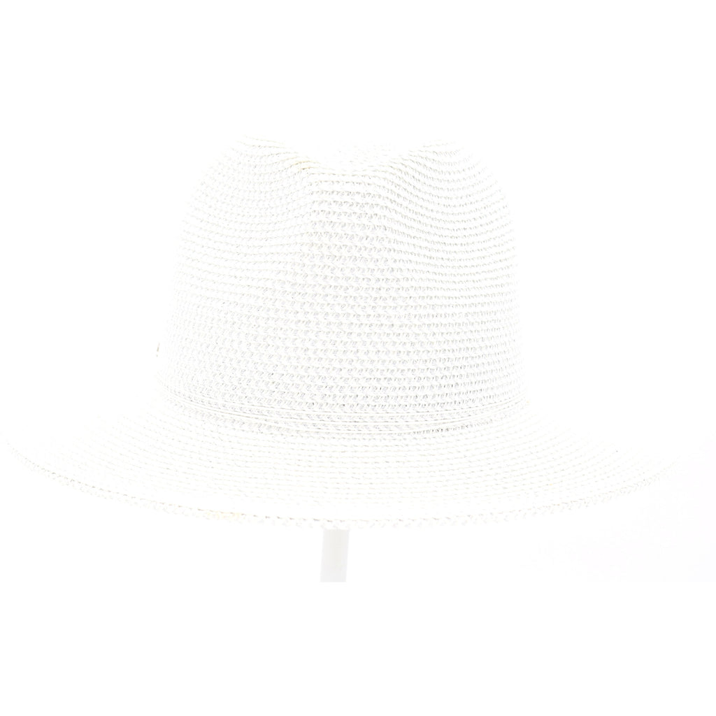 Two Tone Panama Hat with Shimmer Accent ST807