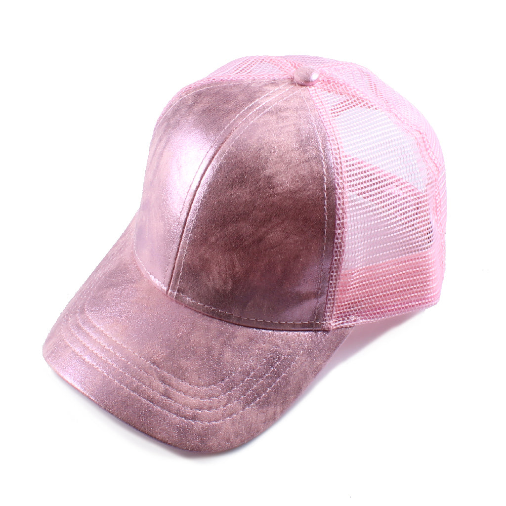 Glossy Mesh Back CC Ball Cap