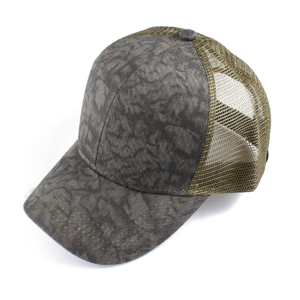 Cotton Tie Dye Mesh Back CC Ball Cap