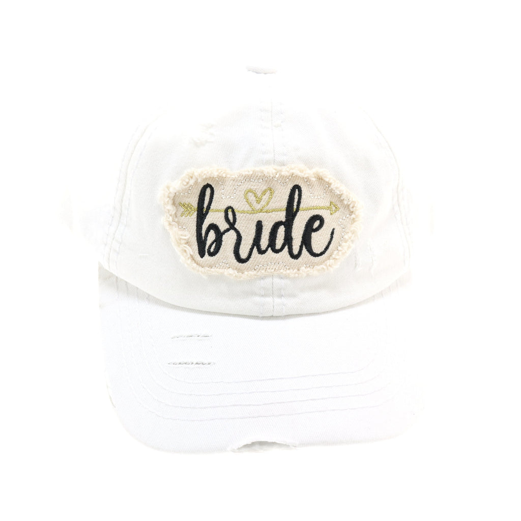 Vintage Washed Distressed Bride CC Ball Cap BA2018
