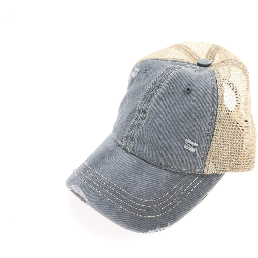 Washed Mesh Back Cotton Classic CC Ballcap BA912