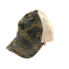 Camouflage Mesh Back Classic CC Ball Cap BA914