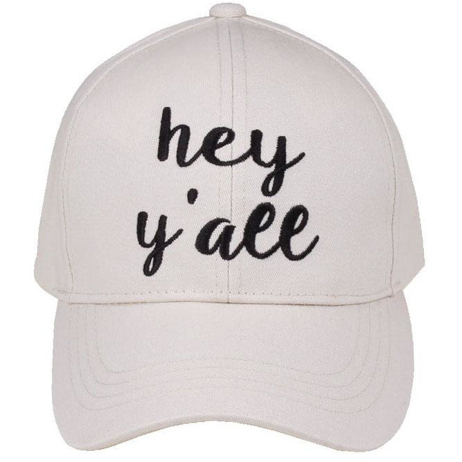 Hey Y`all Embroidered CC Ball Cap BA2017HY