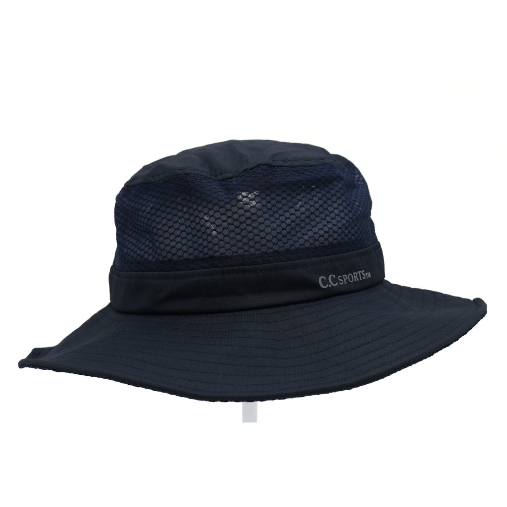 Mesh Bucket Hat with Pony Opening BK773