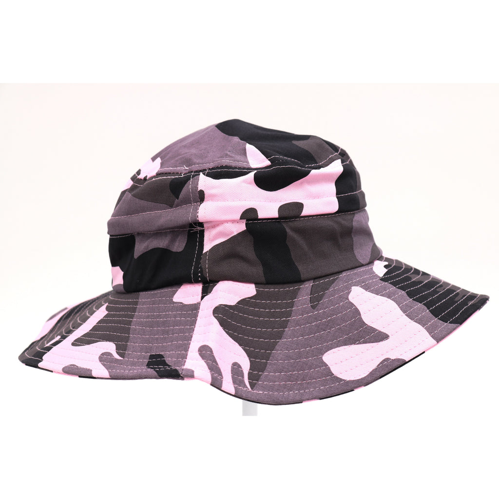 2 IN 1 Camouflage Zipper Bucket Hat BKZ774