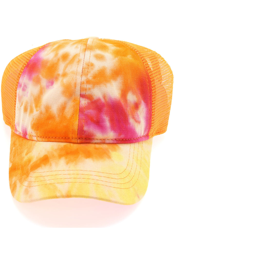 Tie Dye High Ponytail Mesh Back CC Ball Cap BT2164