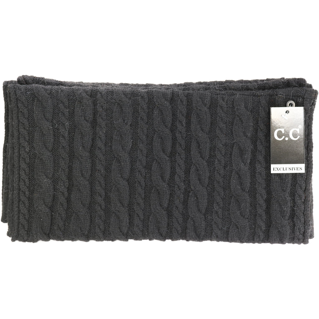 CC Exclusive-Black Label Cable Knit CC Infinity Scarf INF402