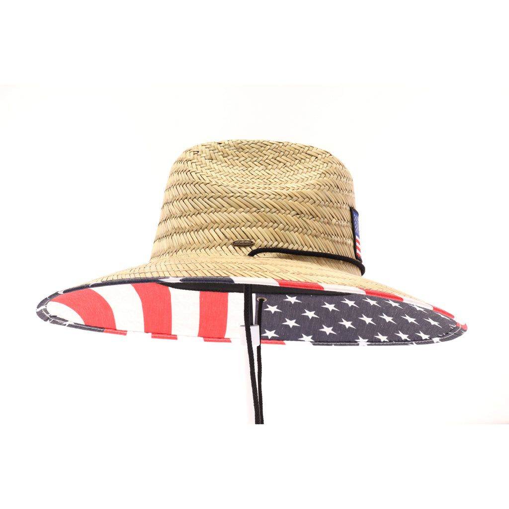 American Flag Patch Lifeguard Hat C325