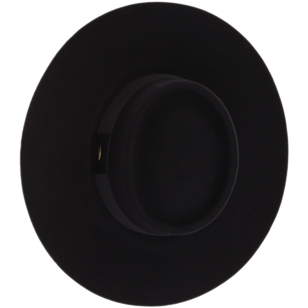 Wide Band Trim Wool Felt Panama Hat W770