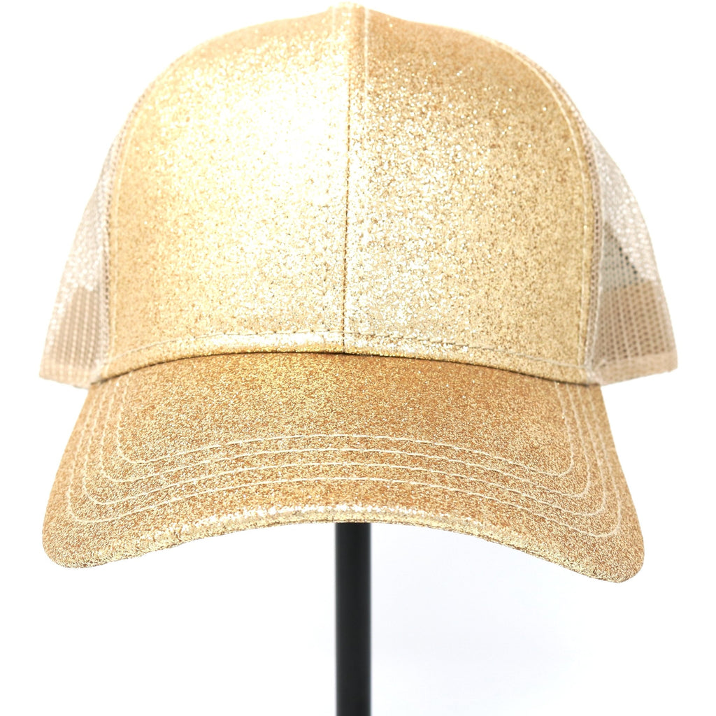 Glitter High Ponytail CC Ball Cap