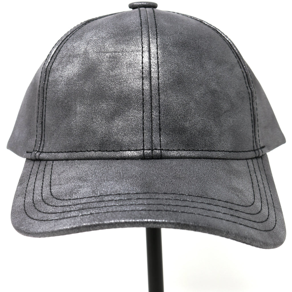 Metallic Fur Pom CC Ball Cap BA15