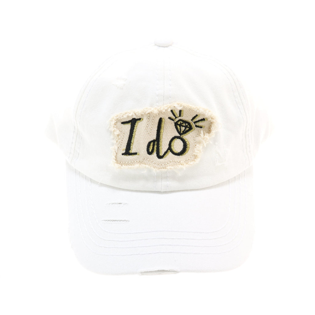 Vintage Washed Distressed I Do CC Ball Cap BA2020IDO