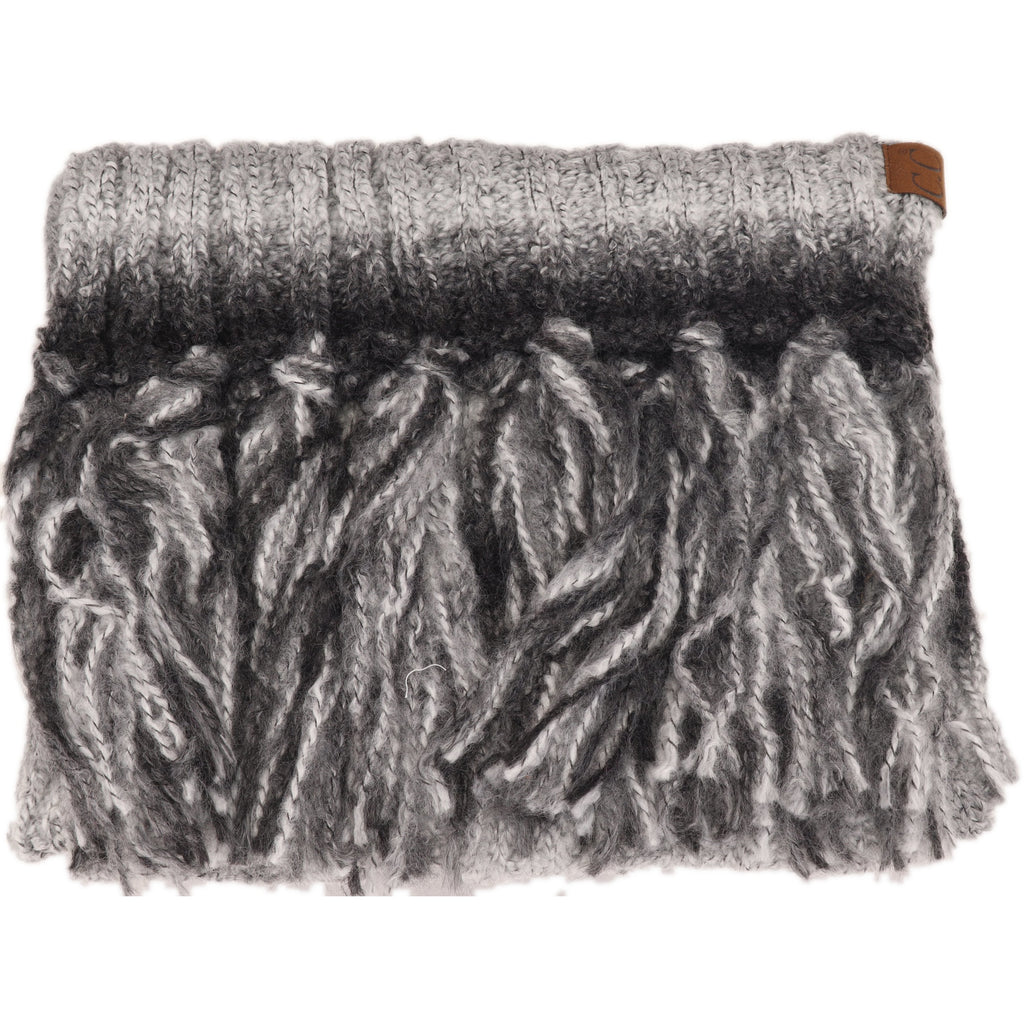 Ombre Knit Scarf with Fringe SF9004
