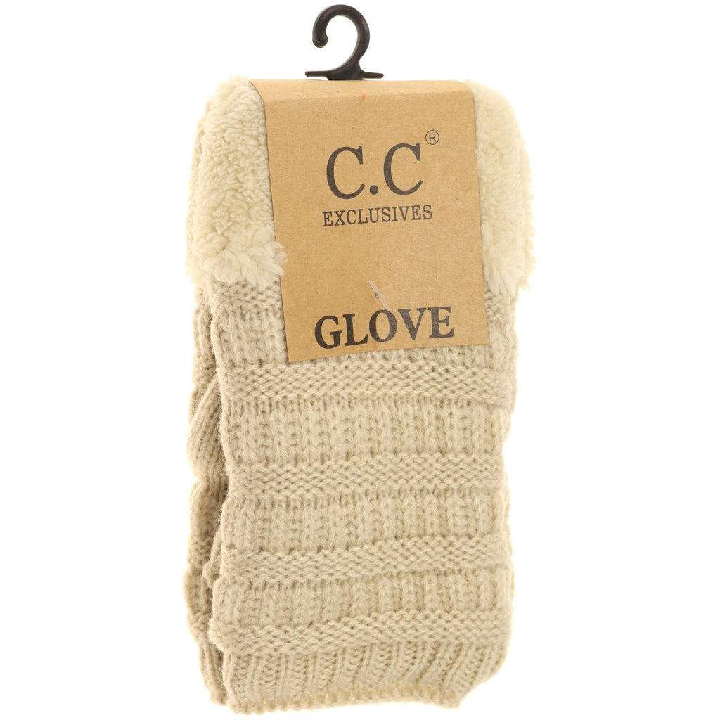 Fingerless Sherpa Lined Gloves FLG25