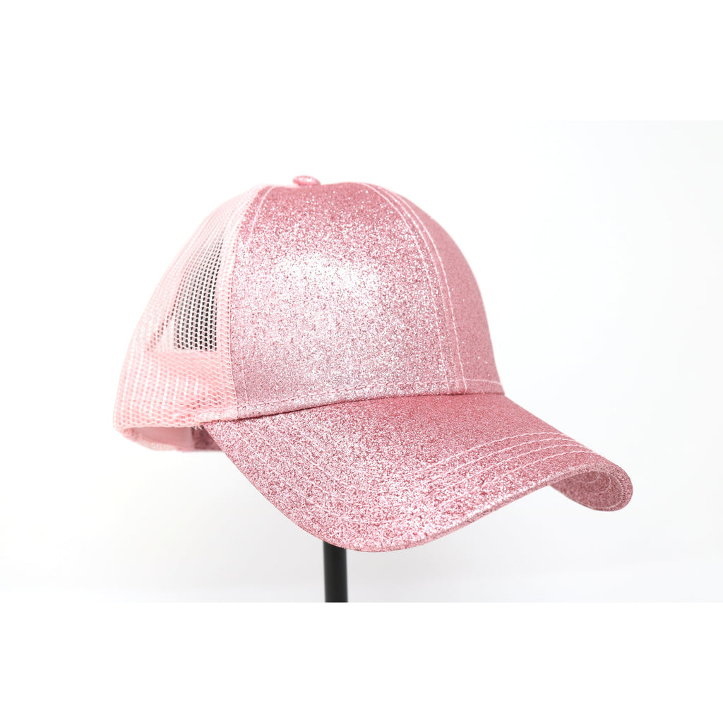 Glitter High Ponytail CC Ball Cap BT6