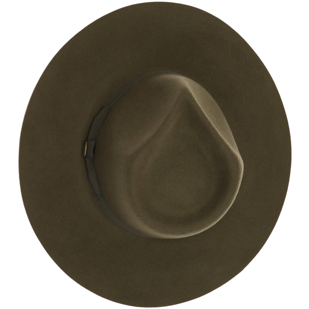 Ribbon Band Trim Wool Felt Panama Hat W1034