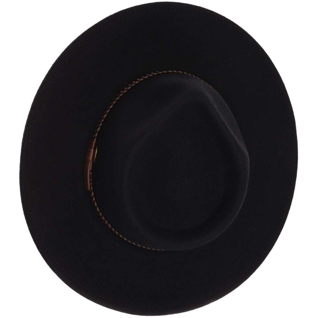 Leather Band Wool Felt Brim Hat W777