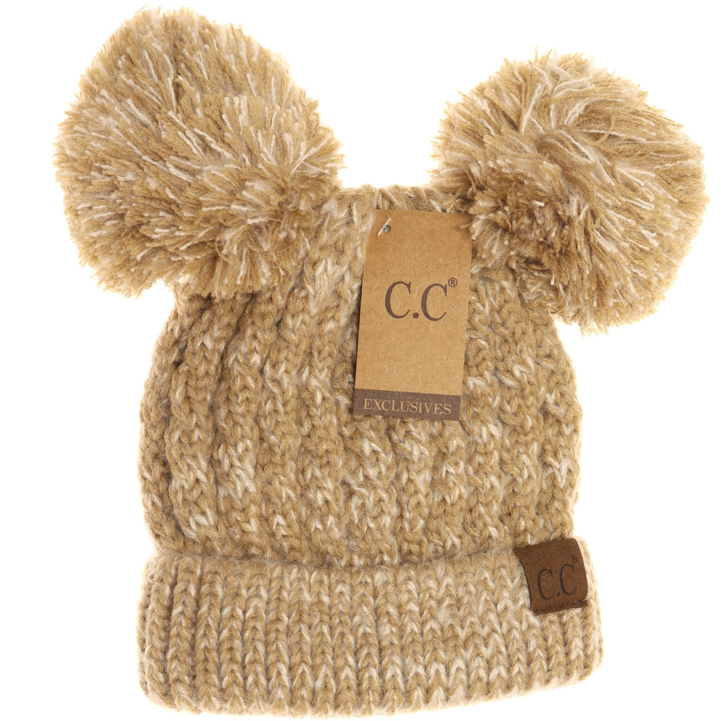 Multi Double Pom CC Beanie HAT23