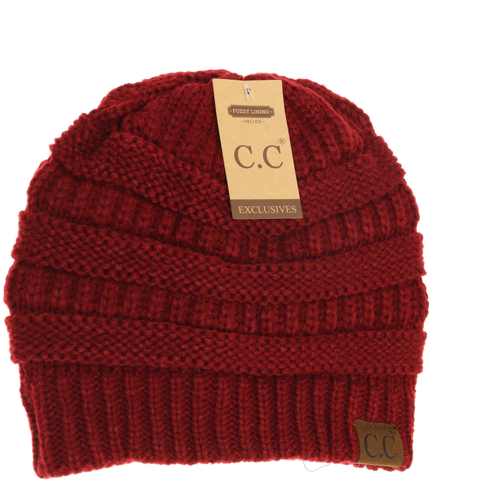 Classic Fuzzy Lined CC Beanie HAT25
