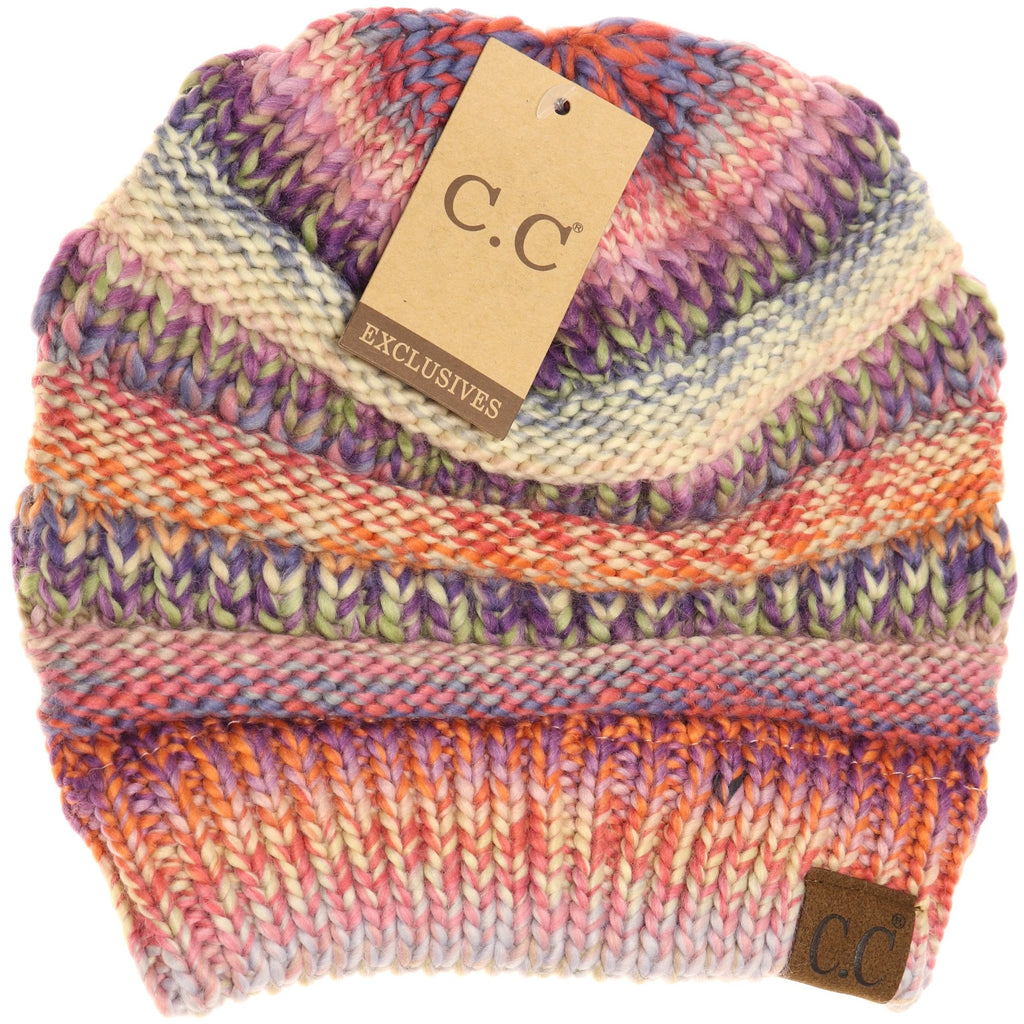 Multi Color Cable Knit CC Beanie HAT705