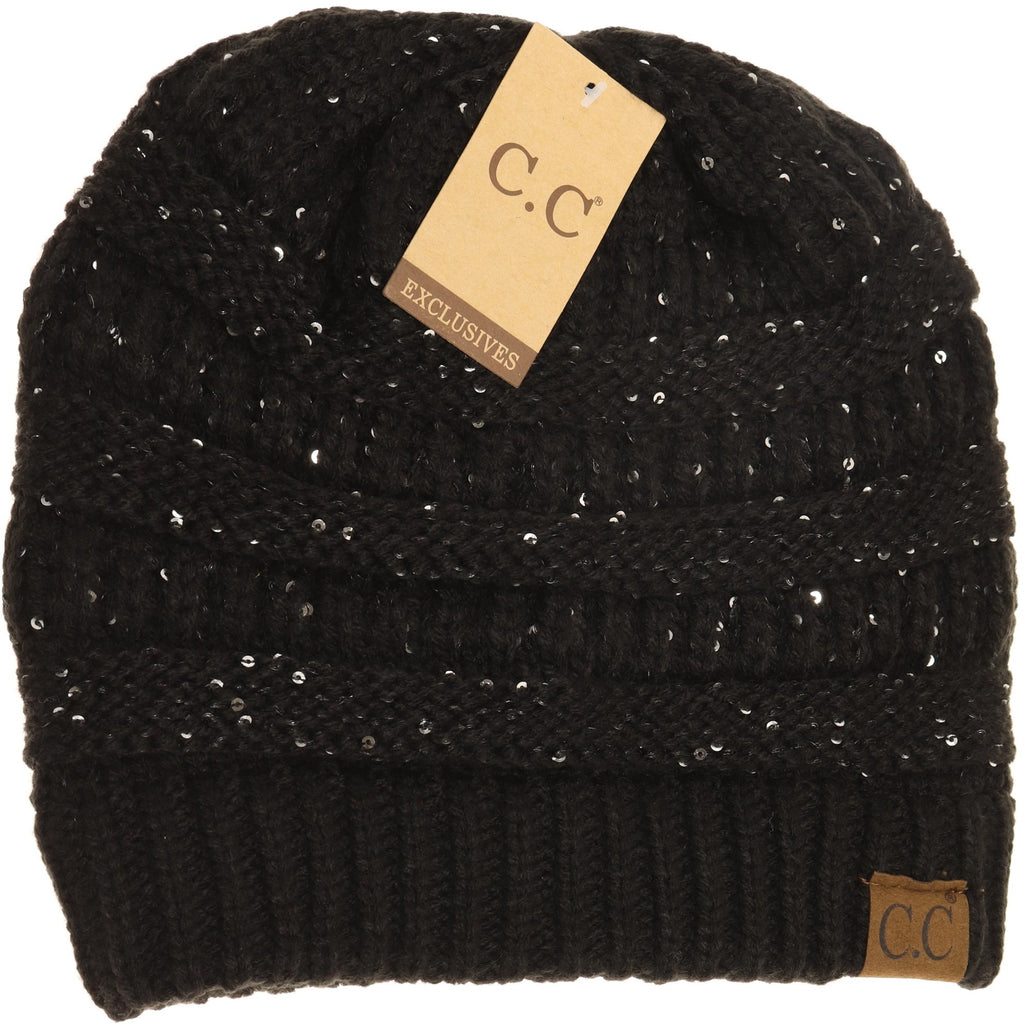 Sequin CC Beanies HAT730